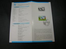 "BELG.1984 2150 Met 1°dagstempel Kortrijk Op NL Postfolder : : "" Smurf / Schtroumpf "" - FDC"