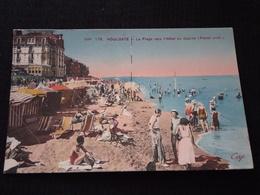 Cpa Cpsm Carte Postale Ancienne Houlgate La Plage Vers L'hôtel Du Casino Animée - Houlgate