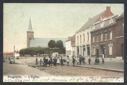+++ CPA - BRUGELETTE - L'Eglise - Carte Animée - Couleur 1907   // - Brugelette