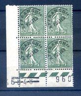 France, Préoblitéré N°49 Neuf Bloc De 4 Coin De Feuille - (F192B) - 1893-1947