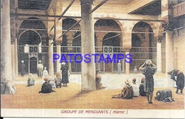 115992 AFRICA MARRUECOS MARRUECOS COSTUMES GROUP OF MENDIANTS POSTAL POSTCARD - Postcards
