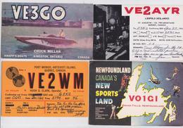 RADIO CARD - CARTE QSL - Lot De 105 Cartes Circulées Majorité Canada - QSL Cards