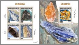 NIGER 2019 MNH Minerals Mineralien Mineraux M/S+S/S - OFFICIAL ISSUE - DH1929 - Minerali