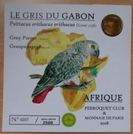 Médaille Touristique Le Gris Du Gabon  Afrique 2008 Sous Encart - 2008