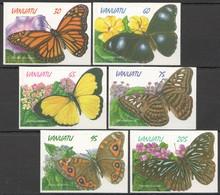 V712 VANUATU FLORA & FAUNA BUTTERFLIES !!! SELF-ADHESIVE #1065-70 1SET !!! MICHEL 11 EURO !!! MNH - Schmetterlinge