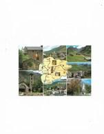 Carte Postale Principat D'Andorra (Andorre) Multi Vues Avec Carte D'Andorre - Andorra
