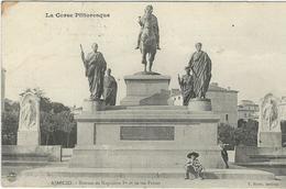 Corse Du Sud : Ajaccio, Statues De Napoleon 1er Et De Ses Frères... - Ajaccio