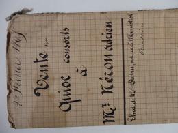 Acte De Vente D'un Ensemble Immobilier à Monistrol (43) De Victoire Delachaise Et Gustave Quioc Docteur à Adrien Teron. - Old Paper