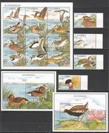 V716 GAMBIA FAUNA WATER BIRDS #2046-63 MICHEL 34 EURO 1SH+2BL+1SET MNH - Canards