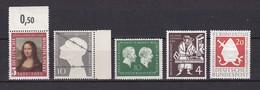BRD - 1952/54 - Michel Nr. 148+165+197/199 - Postfrisch - 33 Euro - BRD