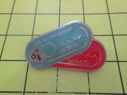 715c Pins Pin's / Rare & Belle Qualité THEME ALIMENTATION / BOITES DE CONSERVE LA MONEGASQUE SARDINES ET ANCHOIS - Alimentation