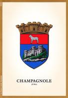 39 CHAMPAGNOLE - BLASON ET HERALDIQUE / CARTE DOUBLE - Champagnole