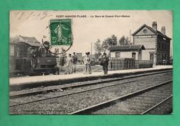 80 Somme Quend Gare De Fort Mahon Plage Avec Train Chemin De Fer - Quend