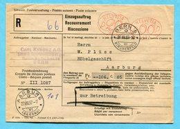 Einzugsauftrag Bern Mit 2 Freistempel 1957 - Absender: Carl Kyburz A.G. - Suisse
