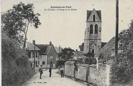 77, Seine Et Marne, FONTAINE LE PORT, Le Clocher, La Poste Et La Mairie, Scan Recto Verso - France