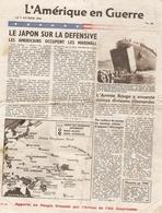 Tract Américain De Février 1944, Marshall, Armée Rouge, Bombardements, Vichy, Conférence De Brazzaville, WWII Leaflet - Historische Documenten