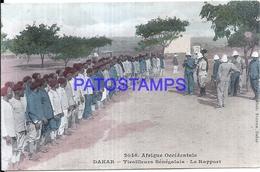 116014 AFRICA DAKAR SENEGAL COSTUMES SHOOTING REPORT CIRCULATED TO SPAIN POSTAL POSTCARD - Postcards