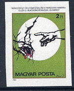 HUNGARY 1985 Doctors Against Nuclear War Imperforate MNH / **.  Michel 3771B - Hungría