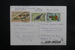 NOUVELLE CALÉDONIE - Affranchissement Plaisant De Nouméa Sur Carte Postale Pour Paris En 1967 - L 35149 - Briefe U. Dokumente