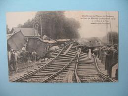 Carte Bernay - Déraillement De L'Express De Cherbourg En Gare De Bernay  1910 - Etat Des Voies Après Accident - Bernay