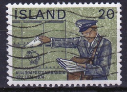 Iceland 1974 Single 20k Stamp From The Centenary Of The UPU Set. - Used Stamps