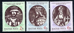 HUNGARY 1988 Hungarian Kings II MNH / **.  Michel 3956-58 - Nuevos
