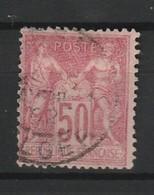 FRANCE TYPE SAGE II 1898-1900 YT N° 104 Obl. CACHET A DATE ALGER - 1898-1900 Sage (Type III)
