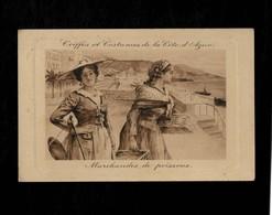 Cartolina Coiffes Costumes Cote D'azur Marchandes De Poissons - Pubblicitari