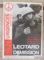 Revue Urgences Pacifistes N°9 (mai-juin 1993) Léotard Démission - Ex-Yougoslavie - Armement Aquitaine - Service Civil - Politik