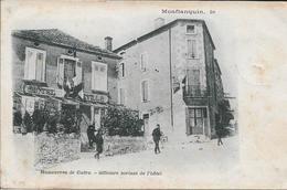 Monflanquin - Manœuvres De Cadre - Officiers Sortant De L'hôtel - Monflanquin