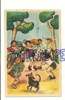 Groupe D'enfants, Cycliste, Vélo Cassé, Fleurs. M.D. Paris - Illustrateurs & Photographes