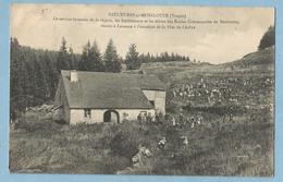 A114  CPA SAULXURES-sur-Moselotte (Vosges)  Le Service Forestier De La Région, Les Instituteurs Et Les élèves Des Ecoles - Saulxures Sur Moselotte