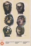 MOORE  Henry  Grande Bretagne  - Affiche Art Et Sport Jeux Olympiques JO Sarajevo - CPM 10,5x15 TBE 1984 Neuve - Illustrateurs & Photographes