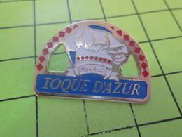 912a Pins Pin's / Rare & Belle Qualité THEME ALIMENTATION / TOQUE DE CHEF (Coucou Gégé) MONACO TOQUE D'AZUR - Food