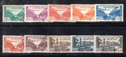 APR1875 - LIBANO 1947 , Posta Aerea Serie Yvert N. 19/28  Usata (2380A) - Libano