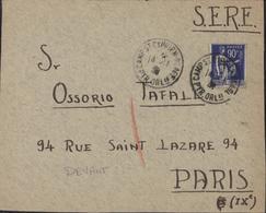 Guerre D'Espagne Retirada YT FM 10 DEVANT DE LETTRE Pour SERE CAD Camp De St Cyprien Pyrénées Orientales 14 11 39 - Marcophilie (Lettres)