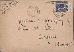 Guerre D'Espagne Retirada YT FM 10 CAD Camp De Gurs Basses Pyrénées 5 7 39 Arrivée Amiens Gare 7 7 39 - Marcophilie (Lettres)
