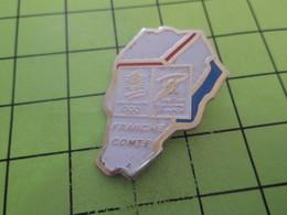 912d Pins Pin's / Rare & Belle Qualité THEME JEUX OLYMPIQUES / 1992 ALBERTVILLE PARCOURS DE LA FLAMME FRANCHE COMTE - Olympic Games