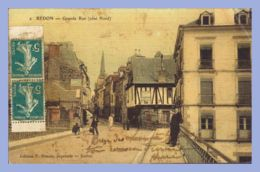 CPA Couleurs - Redon (35) - 4. Grande Rue Coté Nord - Redon