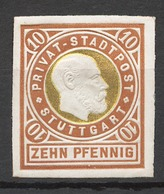 Privat-Stadt-Post Stuttgart 20 * Proof? - Privatpost