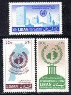 APR1877 - LIBANO 1961 , Posta Aerea Serie Yvert N. 214/216  ***  (2380A)  ONU - Libano