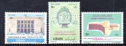 APR1878 - LIBANO 1961 , Posta Aerea Serie Yvert N. 237/239  ***  (2380A)  UNESCO - Libano