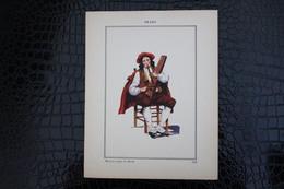 DH/for-18x23,5 Cm.Costumes Régionaux Par P. L. De GIAFFERRI-[64] Pyrénées-Atlantiques - Bearn Musicien Joueur De Théorbé - Costumes