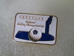 PIN'S   CHRYSLER  GOLF   NATIONAL  PUTTING  CHAMPIONSHIP   Zamak - Golf