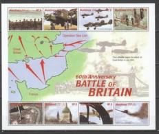 V739 MALDIVES WORLD WAR II WWII 60TH ANNIVERSARY BATTLE OF BRITAIN 1SH MNH - WO2
