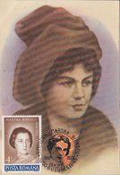 FAMOUS PEOPLE, WRITERS, MARTHE BIBESCO, MAXIMUM CARD, 1991, ROMANIA - Scrittori