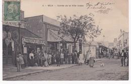 Tunisie -  BEJA -  Entrée De La Ville Arabe - Comptoir - Coiffeur - 1910 - Magasins