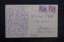 ALLEMAGNE - Affranchissement De Felsberg Sur Carte Postale Pour La France En 1948 - L 35169 - Zona Francesa