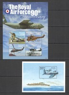 V740 2008 MALDIVES TRANSPORT AVIATION ROYAL AIR FORCE PACIFIC PEACE KB+BL MNH - WO2