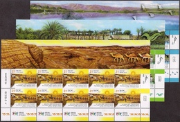 ISRAEL 2019 - Tourism In Israel - Birds - Camels - Rivers - Christianity - 3 Decorative Sheets Of 15 Stamps - MNH - Holidays & Tourism